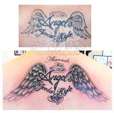 angel wings cover up tattoo miss megs custom tattoos miss megs