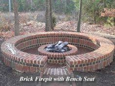 Brick Firepits Brick Firepit With Brick Seating Since I M Gonna All This