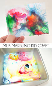 milk marbling kid craft dream a little bigger