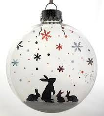 glass kitten s snow ornament snow holidays