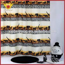 Bath Drapes Desert Animal Design Polyester Bath Drapes Home Goods Curtains