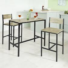 table bar cuisine sobuy ogt03 bar set 1 bar table and 2 stools home kitchen