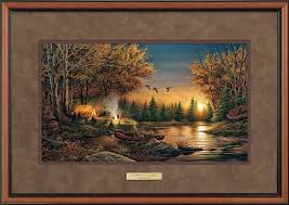 amazon com evening solitude ii framed encore print by terry