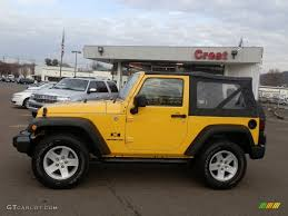 Wrangler 2009 2009 Detonator Yellow Jeep Wrangler X 4x4 59053736 Photo 2