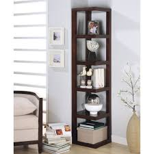 Corner Bookcases With Doors Corner Bookcase Modern Discount Throughout 7 Allthingschula