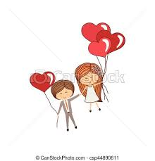 lovely couple cartoon icon vector illustration graphic vector