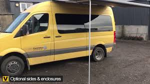 Mercedes Vito Awning Vw Crafter Fiamma F65s 320 Deep Black Awning Youtube
