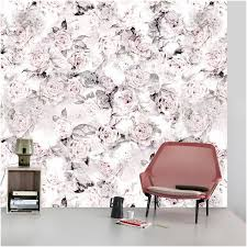 wall design with rose wallpapers for a romantic flair at home