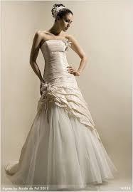 brautkleid mit corsage hochzeitskleid brautkleid mode agnes de pol größe 38 40 chagner
