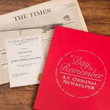 golden wedding anniversary gifts original newspaper from 1968 golden wedding anniversary