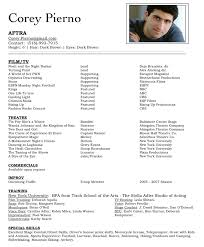 acting resume templates theatre resume template cyberuse