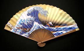 japanese folding fan sensu folding fan hokusai namiura f 404