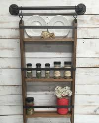 Rustic Spice Rack Kitchen Shelf Cabinet Made From Best Home 65 Ideas Of Using Open Kitchen Wall Shelves Shelterness
