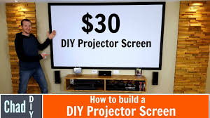 home theater projector screens how to build a 30 projector screen youtube