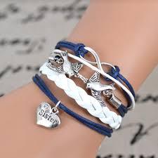 infinity love online get cheap sister charm bracelet aliexpress com alibaba group