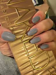 anc matte coffin shape nails nice grayish color for fall winter