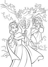 beauty and the beast belle coloring pages