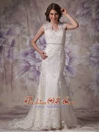 Wedding Dresses Edinburgh Afforable Mermaid Wide Straps Wedding Dress Lace Beading Court