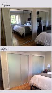 Truporte Closet Doors by Mirrored Closet Door Makeover I Covered The Existing Doors With