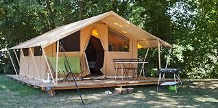 campsite classic 4 wood and canvas tent huttopia