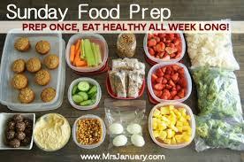 food prep meals prep once eat healthy all week long
