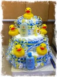 Yellow Duck Baby Shower Decorations Rubber Duck Baby Shower Diaper Cake Rubber Ducky Diaper Cake