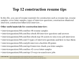 Construction Superintendent Resume Sample by Construction Resume Examples Of Construction Resumes