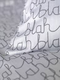 cotton blah blah bed linen designed by donna wilson for secret