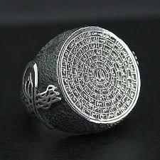 silver ring for men islam 32 best islamic rings images on islamic and muslim