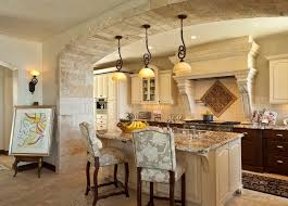 limestone backsplash kitchen archway design kitchen mediterranean with tile floor tile