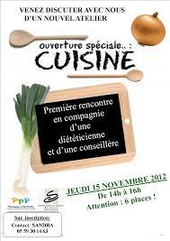 affiche atelier cuisine centre social du hameau pau atelier cuisine