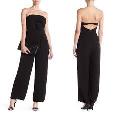 strapless jumpsuit black 27 19 cooper 19 cooper strapless bow front jumpsuit