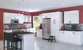 cuisine bordeaux et blanc peinture cuisine avec meubles blancs 30 idées inspirantes