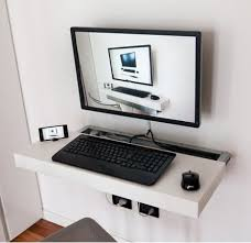 Mini Computer Desks Rea S Sliding And Floating Mini Pc Desk Apartment Therapy