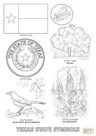 texas state symbols coloring page free printable coloring pages