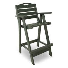 Breezesta Coastal Bar Chair by Polywood Nautical Bar Table Set Nautical Collection Polywood