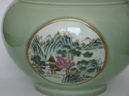 Chinese Celadon Vase Large Celadon Vase Marked Qianlong China Republic Period