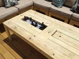 diy deck cooler box pallet beer end table with to comfortable sofa