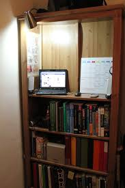 Desks With Bookcase Turning A Bookcase Into A Standing Desk Super Perfect For The