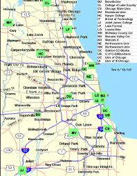Chicago On A Map by Chicago Area Jpg