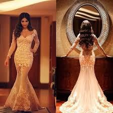 said mhamad long sleeves formal mermaid evening prom dresses