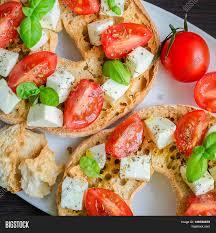 classical cuisine starter friselle classical image photo bigstock