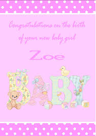 Invitation Card Design Christening Personalised New Baby Card Design 3