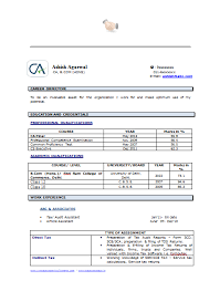 Fresher Accountant Resume Sample by Example Template Of An Experienced Chartered Accountant Resume