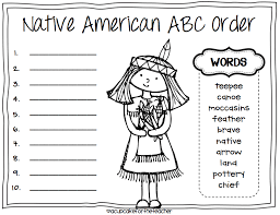 abc order thanksgiving printable happy thanksgiving