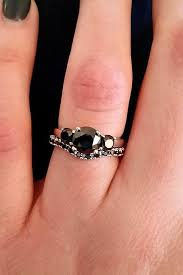black diamond wedding set 33 unique black diamond engagement rings oh so