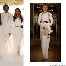 beyoncé looks stunning at the all white wedding of tina and