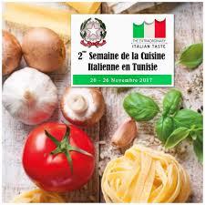 cuisine italienne 2ème semaine de la cuisine italienne en tunisie du 20 au 26