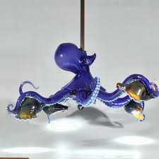 Octopus Ceiling Light chandeliers lindemann glass 2017