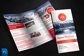 alpine travel brochure template brochure templates creative market